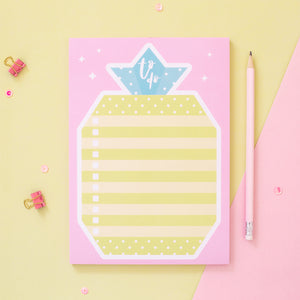 Origami Pineapple To Do List Notepad