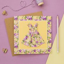 Load image into Gallery viewer, Floral Sunshine - Yellow Origami Dress Card