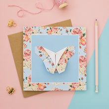 Load image into Gallery viewer, Pastel Blush - Floral Origami Butterfly Card