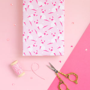 Origami Pink Kitty Wrapping Paper