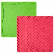Wilton Grass/Brick 2pc Silicone Texture Mat Set