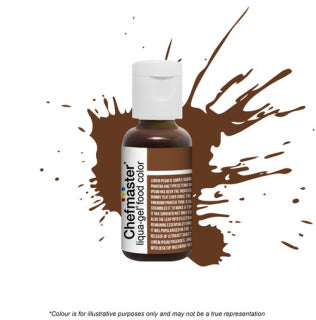 Chefmaster Liqua-Gel Colour - Buckeye Brown