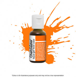 Chefmaster Liqua-Gel Colour - Neon Bright Orange