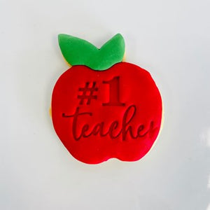 Apple/#1 Teacher Custom Cookies