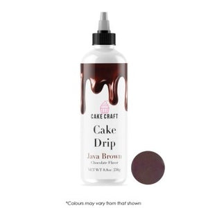 Cake Craft Cake Drip - Java Brown 250g