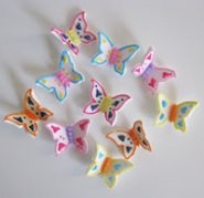 Multi Coloured Butterflies 30mm