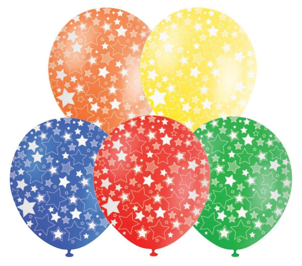 Stars Assorted Helium Quality Balloons