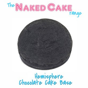 "8"" Hemisphere Naked Cake Base Chocolate - Fresh"