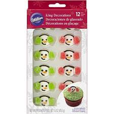 Wilton Snowman with Gummy Earmuffs - Pack of 12
