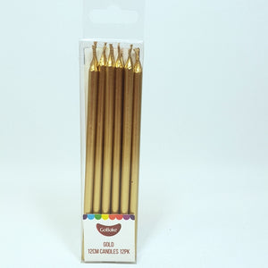 Long Candles pkt of 12 - Gold