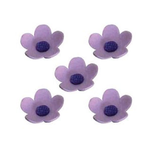 Small Icing Blossom Flowers - Purple 10pk