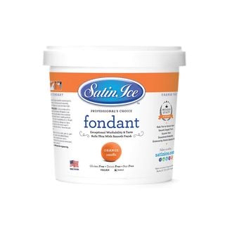 Satin Ice Fondant - Orange 1kg
