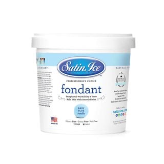 Satin Ice Fondant - Baby Blue 0.91kg