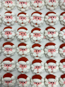 Edible Santa Face decorations - Bag of 5