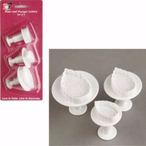 Rose Leaf Plunger Cutters - set of 3