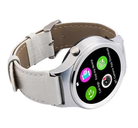 Cool Cornelius™ S3 1.22-inch Smart Watch MT2502 64MB RAM 128MB ROM Silver Heart Rate Monitor / Sleep Monitor Phone