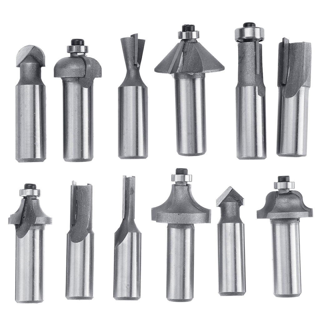 12/15 pc Tungsten Carbide Woodworking Cutter Rotary Tool
