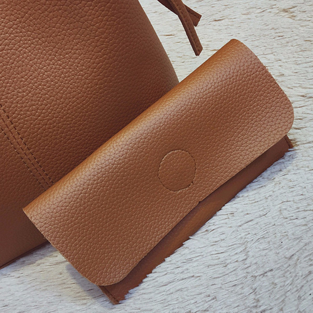 Cool Cornelius™ Purse, Two Piece, Leather Tote Handbag & Clutch Wallet