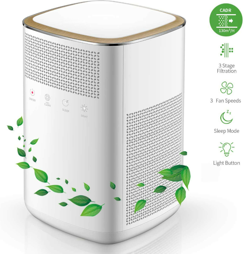 Cool Cornelius™ Air Purifier, 4 in 1 HEPA Mini Home Air Purifier with 2 True Carbon Filters