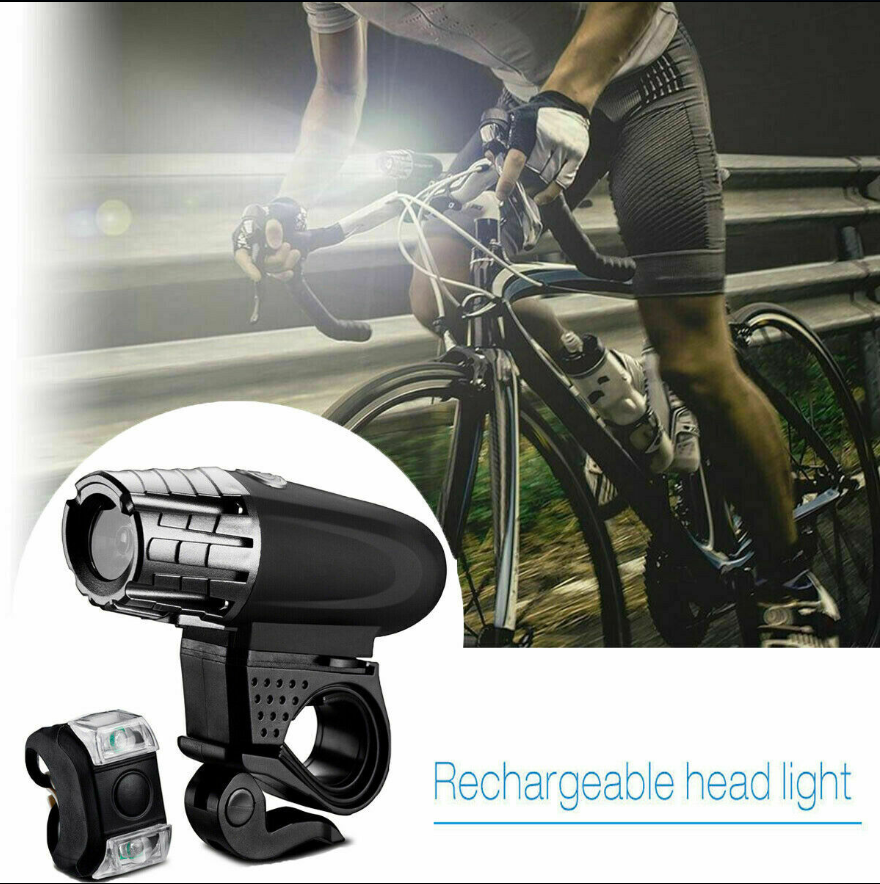 Cool Cornelius™ Bicycle Light Set 8.4V Rechargeable LED Front & Rear Lamp Set