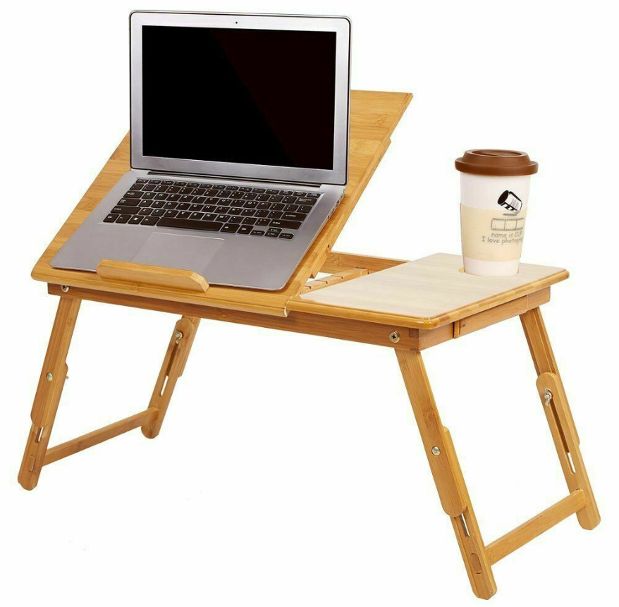 Cool Cornelius™ Laptop Stand Bamboo  Folding Computer Sofa Bed Table  Adjustable Desk Tray