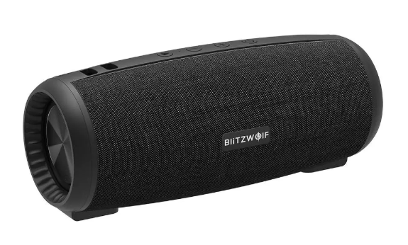BlitzWolf®  Wireless Speaker 12W  Bluetooth 5.0 Stereo with Mic - Black