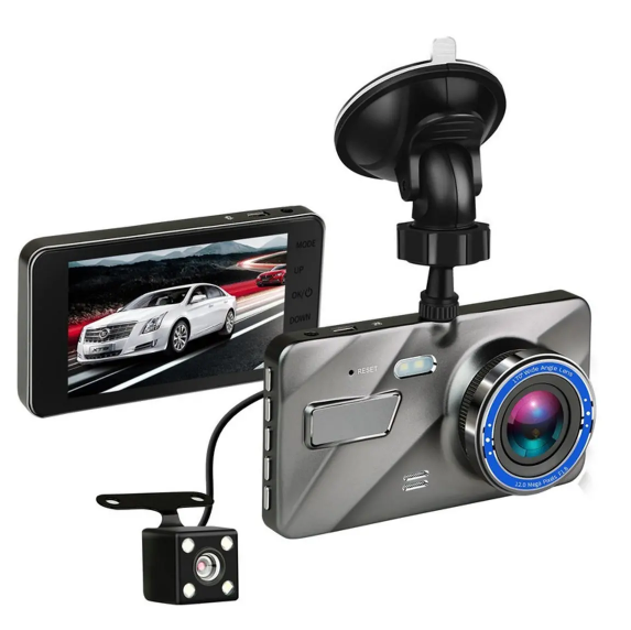 Cool Cornelius™  Dash Cam 4 Inch HD 1080P Dual Lens Camera Night Vision Loop Recording 170 Degree Car DVR Video  Front Rear Recorder