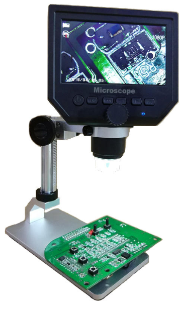 Cool Cornelius™ Digital Microscope 4.3inch HD LCD Display 1-600X Continuous Magnifier