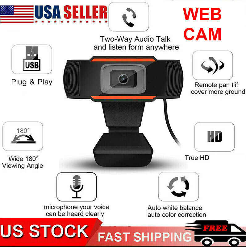 Cool Cornelius™ Webcam Auto Focusing Web Camera TRUE HD Microphone For PC Laptop Desktop