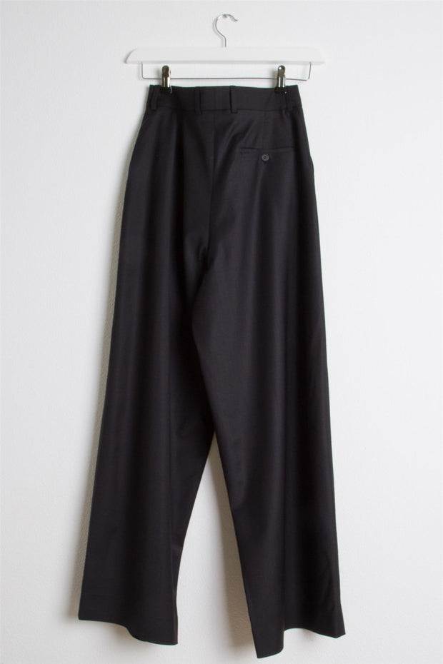 Large Trousers - Black Navy