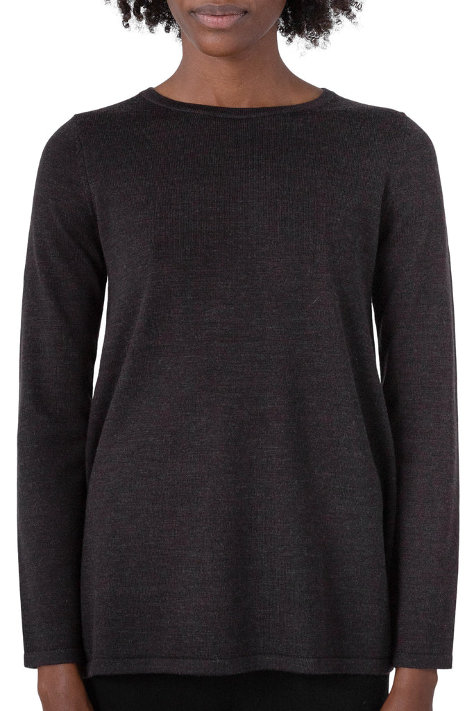 A-Line Sweater - Dark Brown Melange