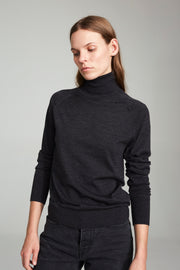 Madeleine Knit Turtleneck - Dark Grey
