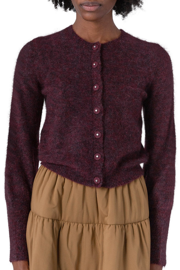 Soft Petit Cardigan - Bordeaux