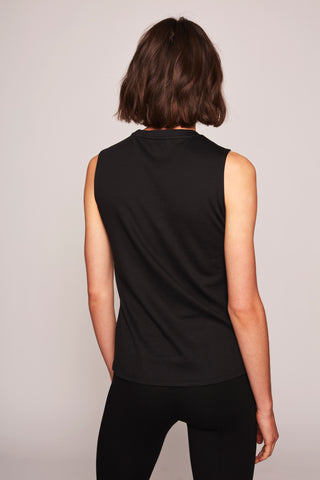 Nicole Sleeveless Top - Black