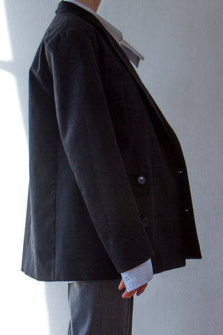 Too Big Coat -  Black