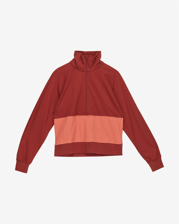 Bobby Halfzip - Red Ochre - F5 Concept Store