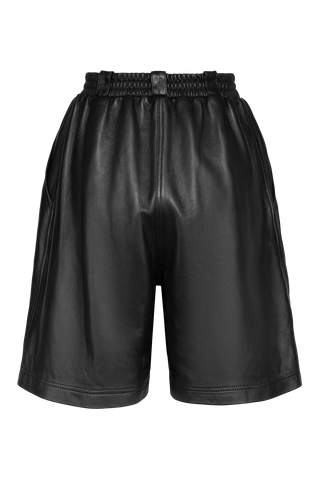 Bermuda Leather Shorts - Black
