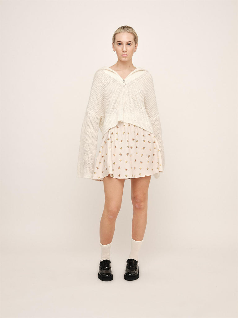 Florie Zipped Knit - Off White