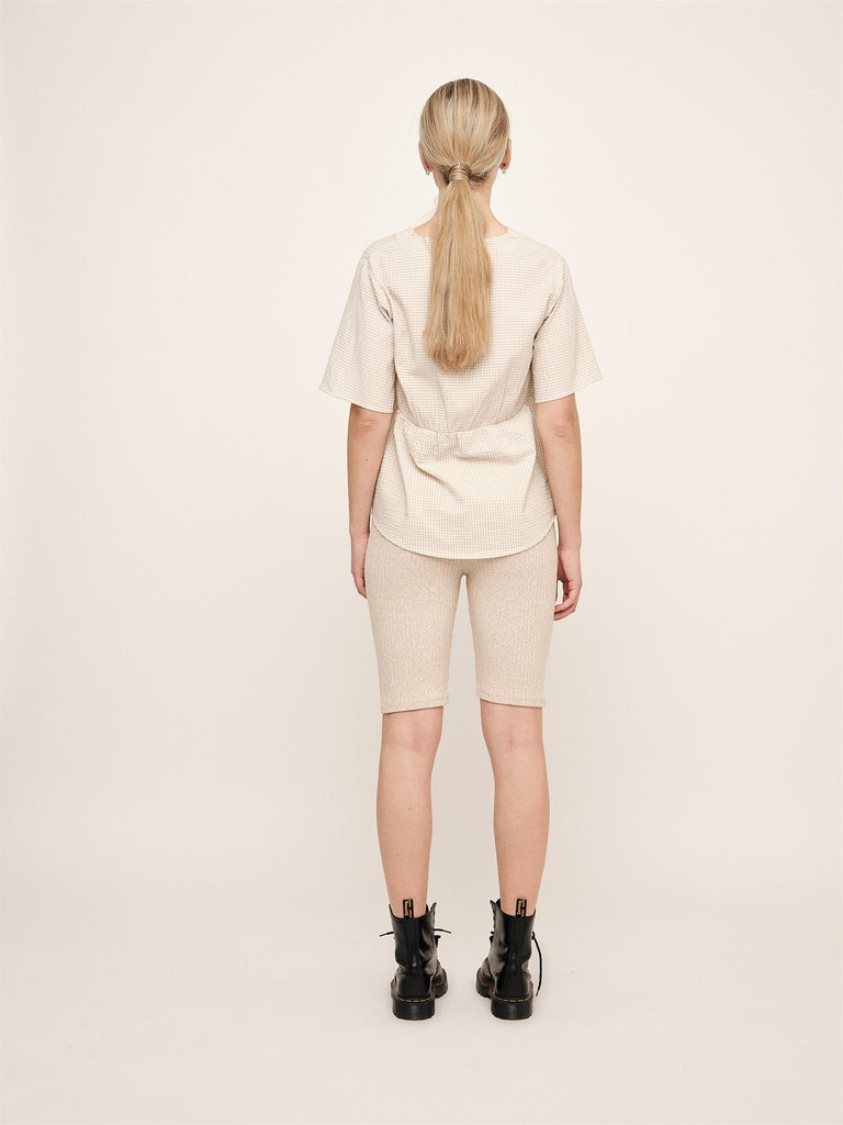 Indiana Wide Blouse - White Fog