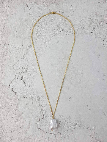 Baroque Pearl Necklace -18K Gold