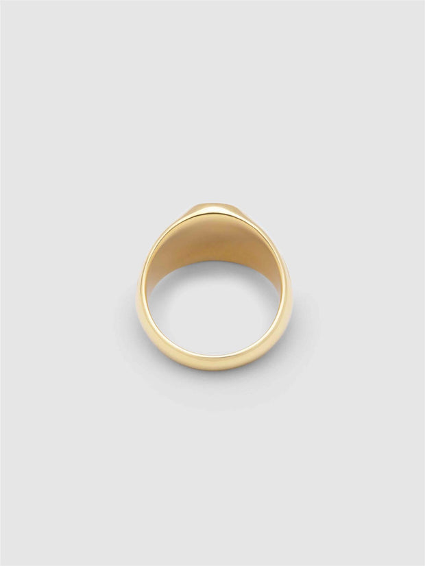 Gudrun Signet Ring - Gold