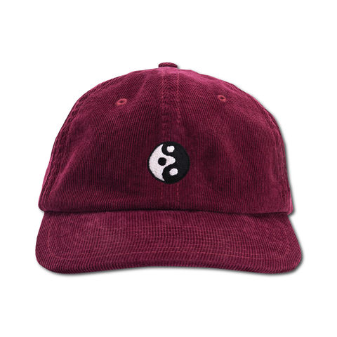 Yinyangish Cord Cap - Wine