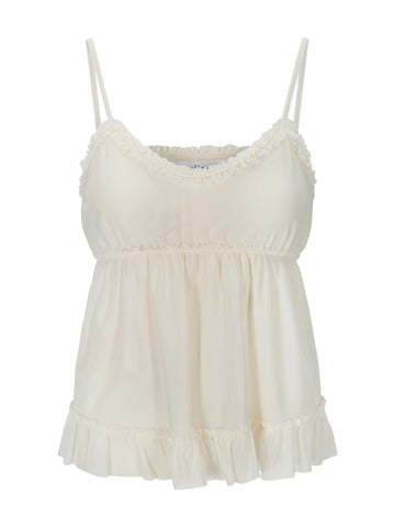 Gia Strap Top - Antique White
