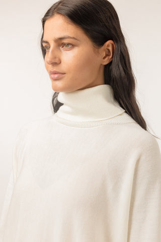 Wide Turtleneck - Off White