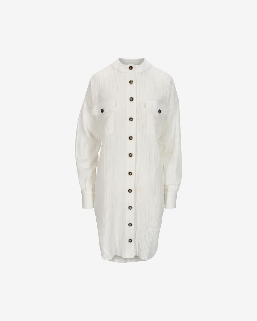 Jett Shirt Dress - White
