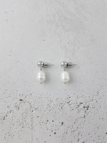 Vermeer Earrings - Rhodium