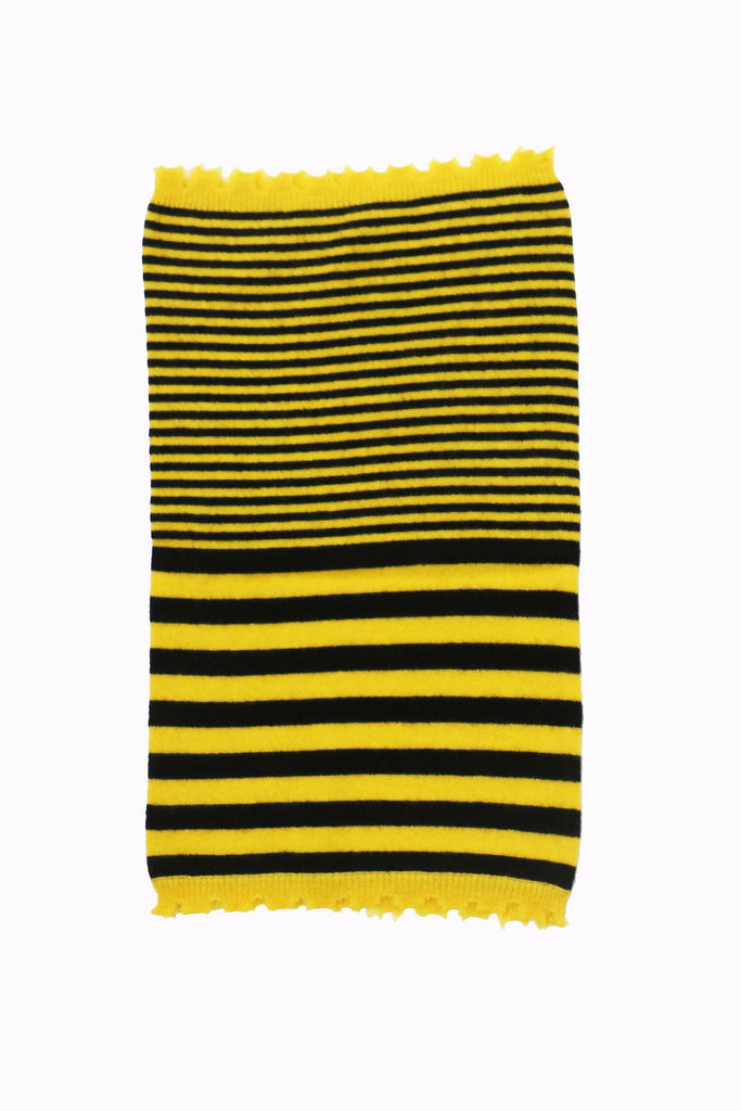 Snow Cashmere Neckwarmer - Yellow/Black Stripes