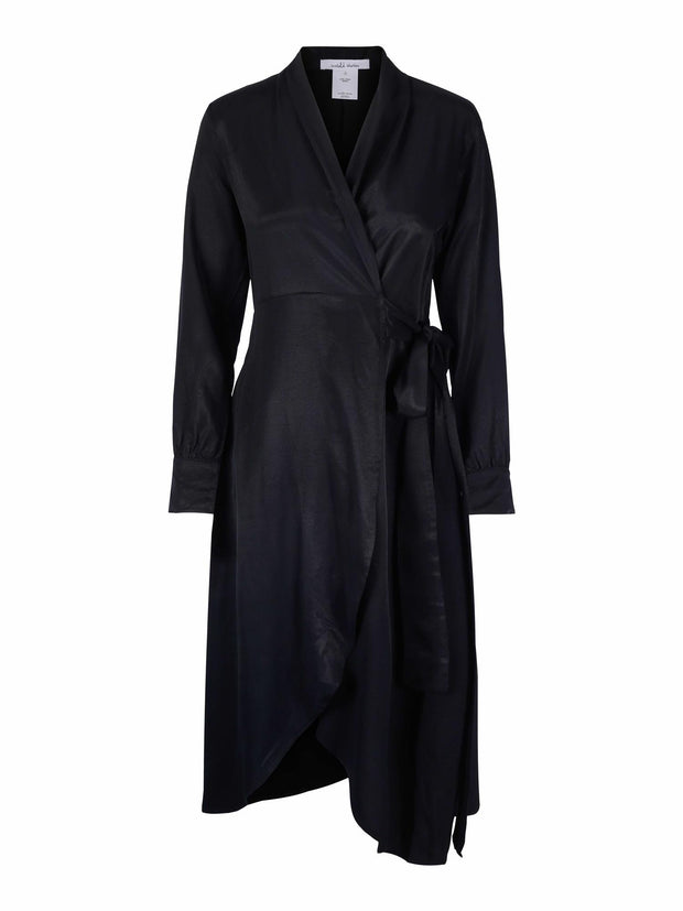 Kaylee Wrap Dress - Black