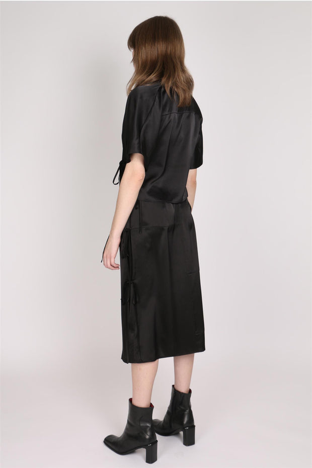 Silk Wrap Skirt - Black - F5 Concept Store