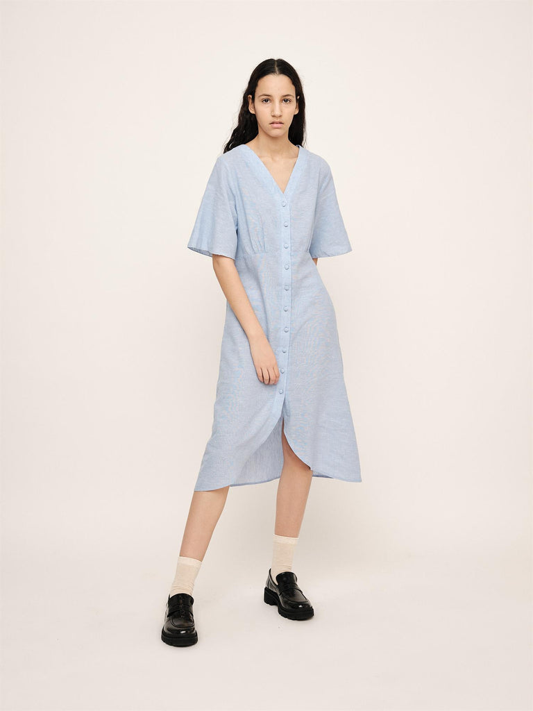 Lisa Long Dress - Placid Blue